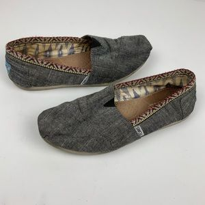Toms Gray Southwest Aztec Embroidered 8